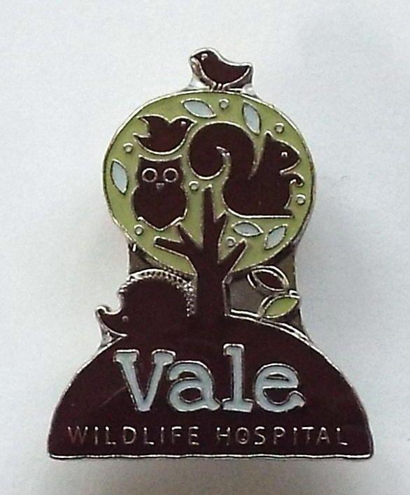 Vale Wildlife Hospital logo Enamel Badge (magnet fixing)