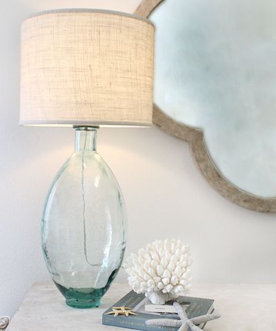 Bali Tall Lamp #blownglass #glass #recycled