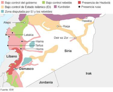 Al Asad, Estado Islámico, Al Qaeda y un sinnúmero de rebeldes, por un lado. Por otro, Arabia Saudita, Estados Unidos, Irán, Turquía y Rusia. Cada vez es más complejo saber quién lucha contra quién en Siria.