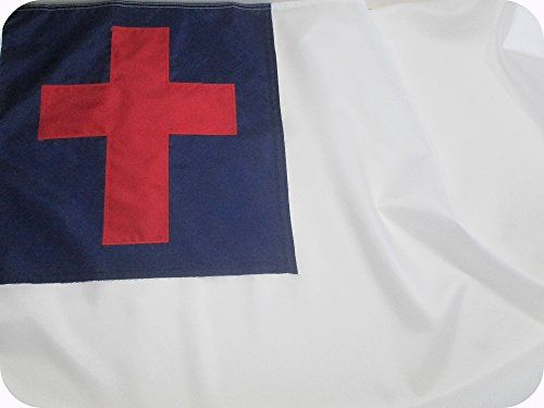 CHRISTIAN+FLAG+4×6+ft+–+Beautiful+Outdoor+CHRISTIAN+FLAG+Fully+Sewn+using+Durable+All+Weather+FADE+RESISTANT+PREMIUM+SOLARMAX+NYLON+with+APPLIQUED+CHRISTIAN+CROSS+100%+Made+in+USA