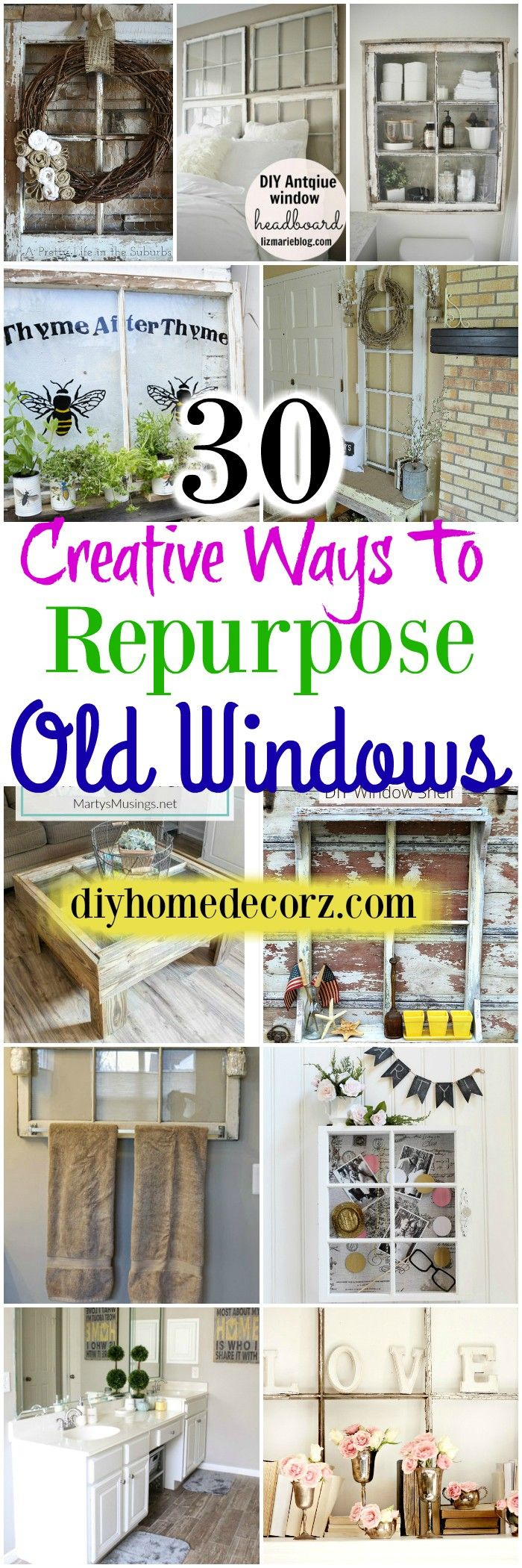 I am going to show you 30 creative ways to repurpose #oldwindows for your home.you will learn how you can bring in use old windows.