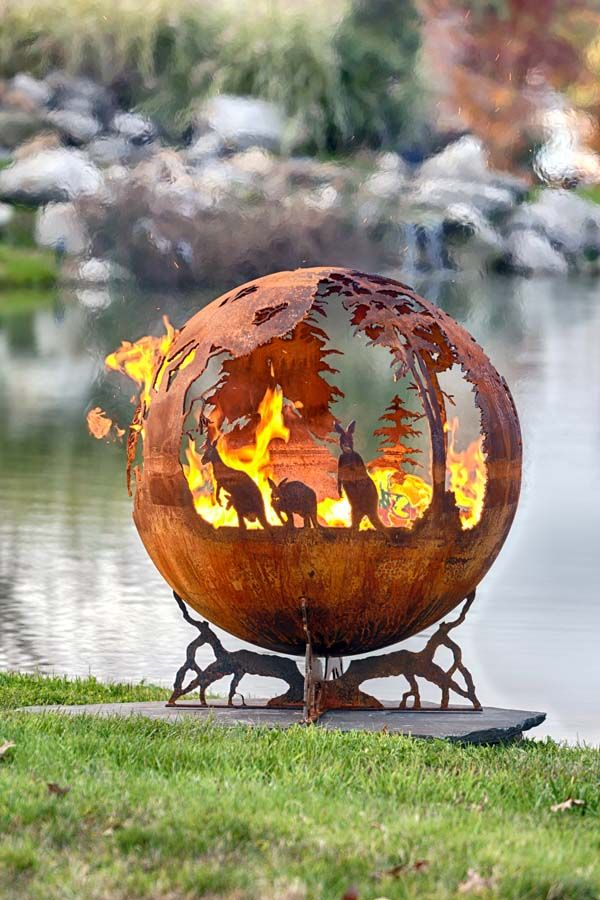 Australia Fire Pit Sphere - Down Under | The Fire Pit Gallery