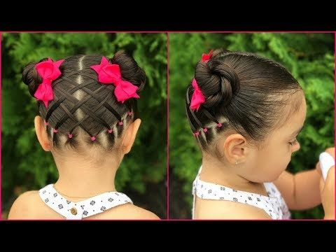 Trenzas afriacanas con media coleta| Peinados para niña - Little Princess Haistyle - YouTube
