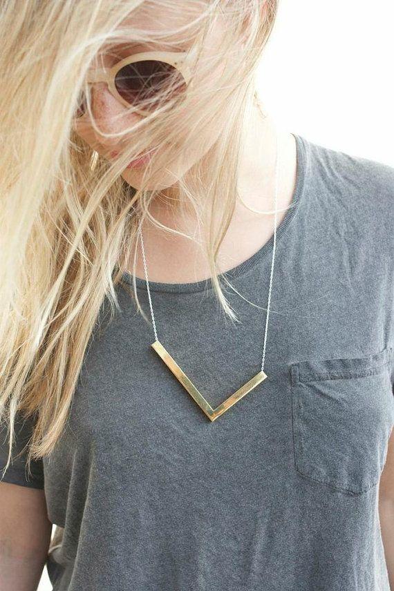 Bar Necklace, Minimalist necklace, Everyday Necklace, Modern Necklace, Gold Necklace
