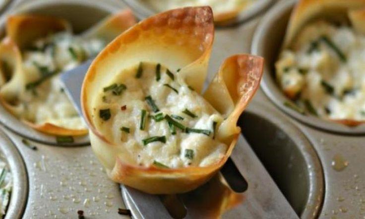 Bouchées de crabe dans une pâte Won ton