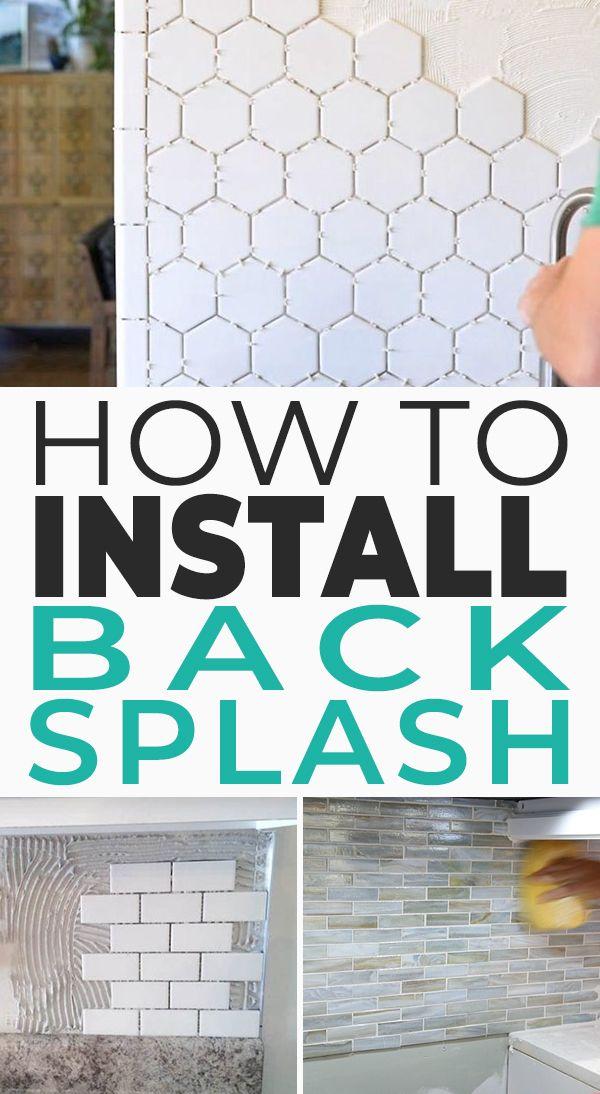 How To Install A Backsplash The Budget Decorator Install Backsplash Diy Backsplash Diy Home Improvement
