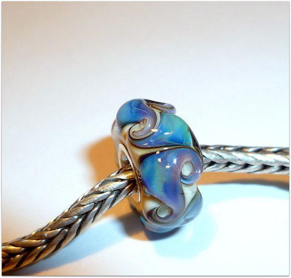 luccicare beads | Luccicare Lampwork Bead - Dreamy Twist - Lined with Sterling Silver
