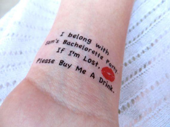 temp bachelorette tattoos haha