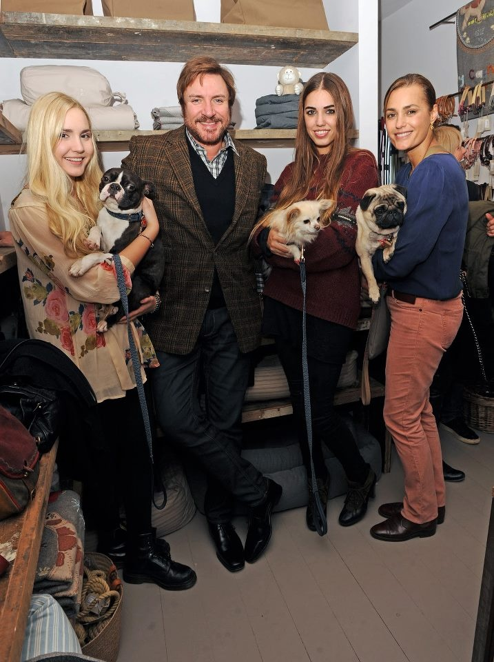 Le Bon family: Simon with wife Yasmin and daughters, Saffron & Amber with their cute furry friends