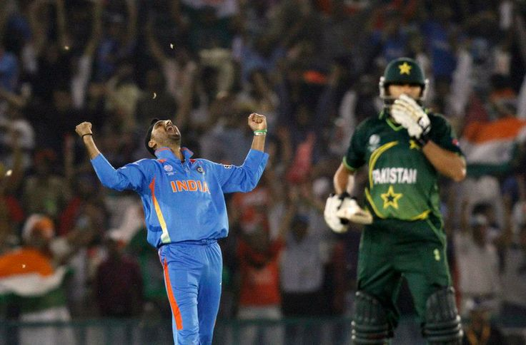 In Mohali - this is how it felt after sending Pakistan crashing out of the World Cup ! Blue Jerseys , Indian Flags in the background . What memories !