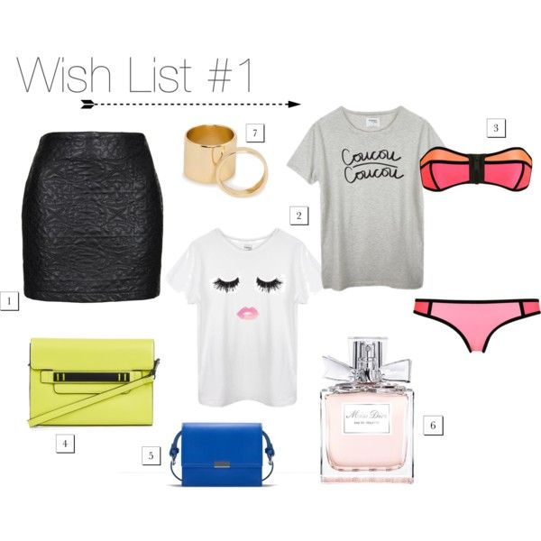 Waiting for Summer : Topshop skirt, Sincerely Jules T-Shirts, Triangl Swimwear, Zara and Topshop bags, Miss Dior, Mango rings