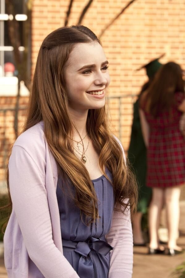 "Lily Collins as 'Collins' in ""Blind Side"""