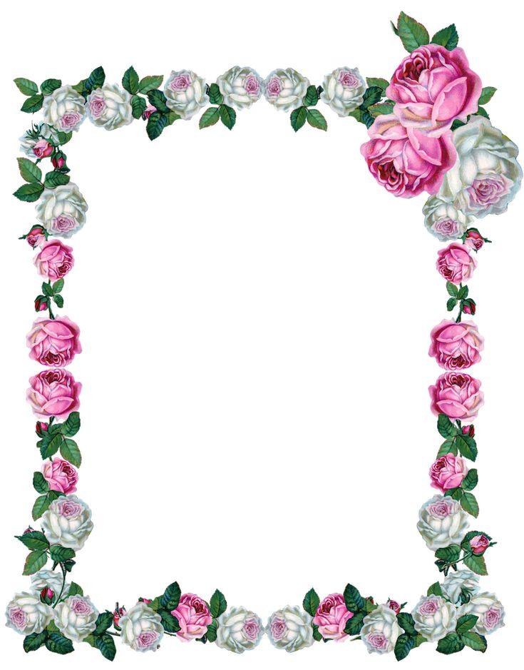 FREE digital vintage rose frame