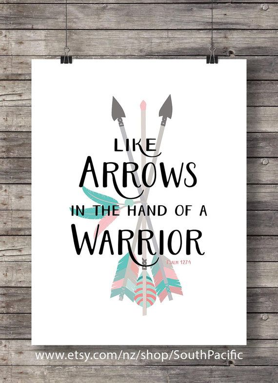 Like arrows in the hand of a Warrior  Psalm 127:4  by SouthPacific
