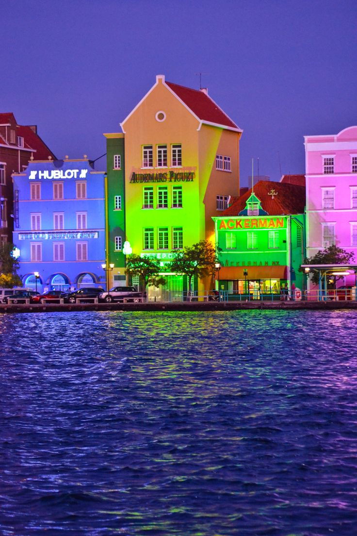 The nighttime lights of Willemstad Curacao 600