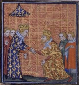 On Dec. 4, 1259, King Louis IX and King Henry III agreed to the Treaty of Paris (1259). King Henry agreed to renounce his claims to Maine, Anjou, and Poitou in exchange for King Louis IX withdrawing his support for the English rebellion against the English King.