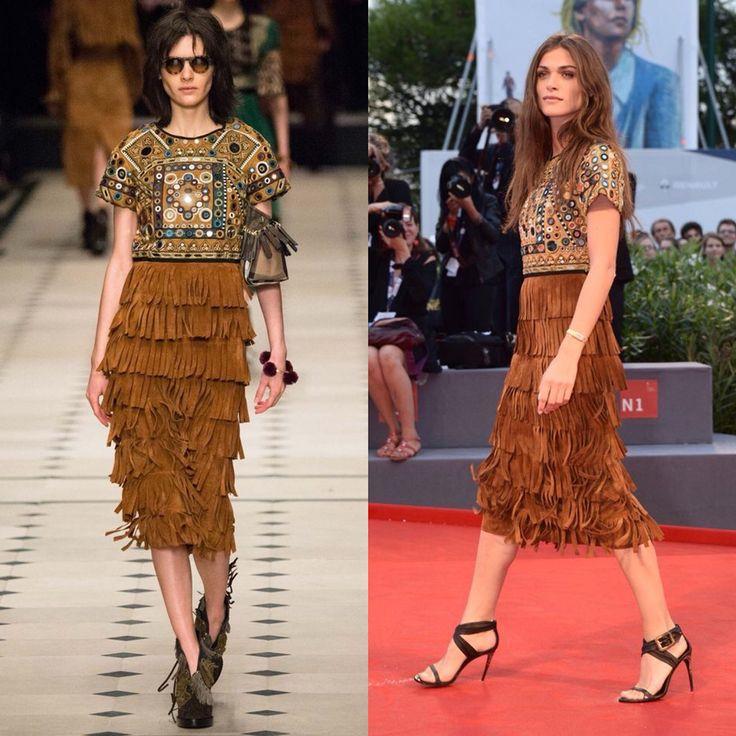 Elena Sednaoui in Burberry Prorsum fall 2015 ready-to-wear in Venecia Festival