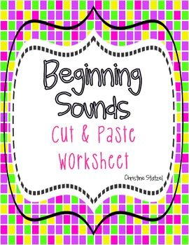 Freebie! Beginning Sounds Worksheet