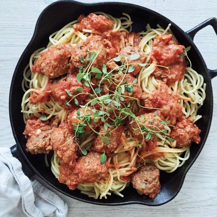 Italienske kødboller i tomatsovs