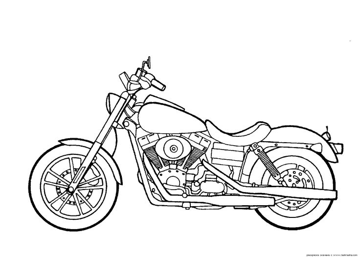 16 best Motorcycles Coloring Pages images on Pinterest | Motorbikes ...