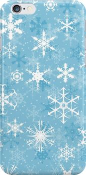 Snowflakes iPhone Case - Available Here: http://www.redbubble.com/people/rapplatt/works/11873415-snowflakes?p=iphone-case
