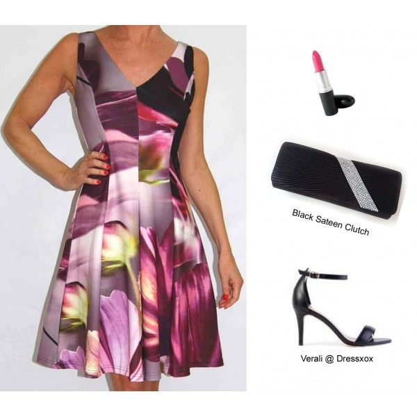 Inais Digital Floral Party Dress