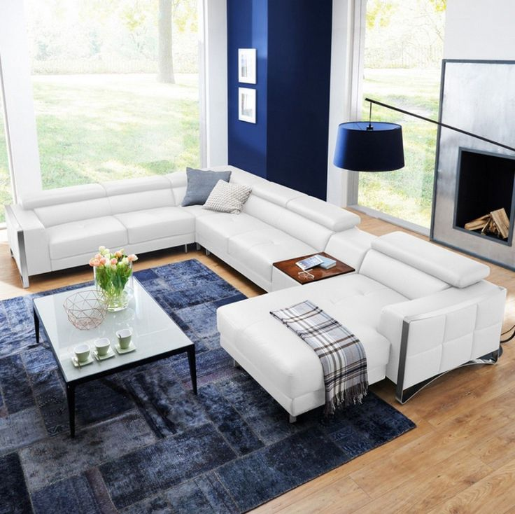 Divani Casa Arles Modern White Leather Sectional Sofa VGCS1504C-RAF-WHT