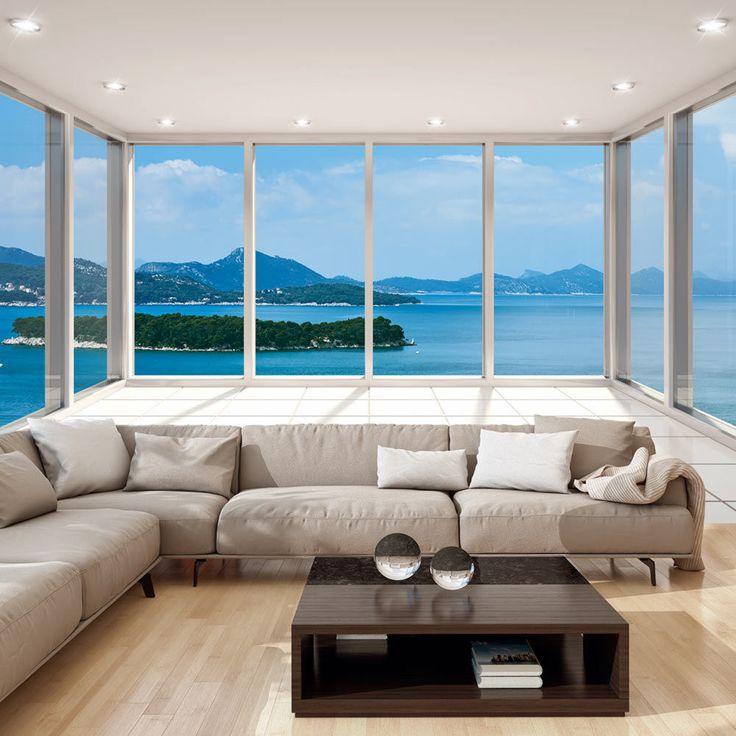 die besten 25 fototapete wohnzimmer ideen auf pinterest tv wand tapete tv wand beleuchtung. Black Bedroom Furniture Sets. Home Design Ideas