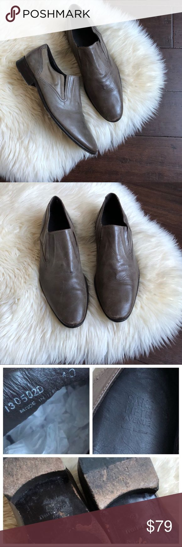 Saks Fifth Avenue Italian Leather Slip On Loafer Mens Saks Fifth Avenue Italian Leather Slip On Loafer   Brand - Saks Fifth Avenue Size - 10 Color - Taupe Light Brownish Gray Leather  Good condition, light scratches & wear on bottom. Saks Fifth Avenue Shoes Loafers & Slip-Ons