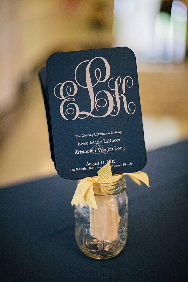 Navy Wedding Programs | PHOTO SOURCE • BROOKE IMAGES | Featured on WedLoft