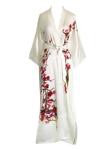 Old Shanghai Women's Silk Kimono Long Robe - Handpainted - Cherry Blossom White Old Shanghai http://www.amazon.com/dp/B005GHKIFO/ref=cm_sw_r_pi_dp_aQTtwb1AWN12V