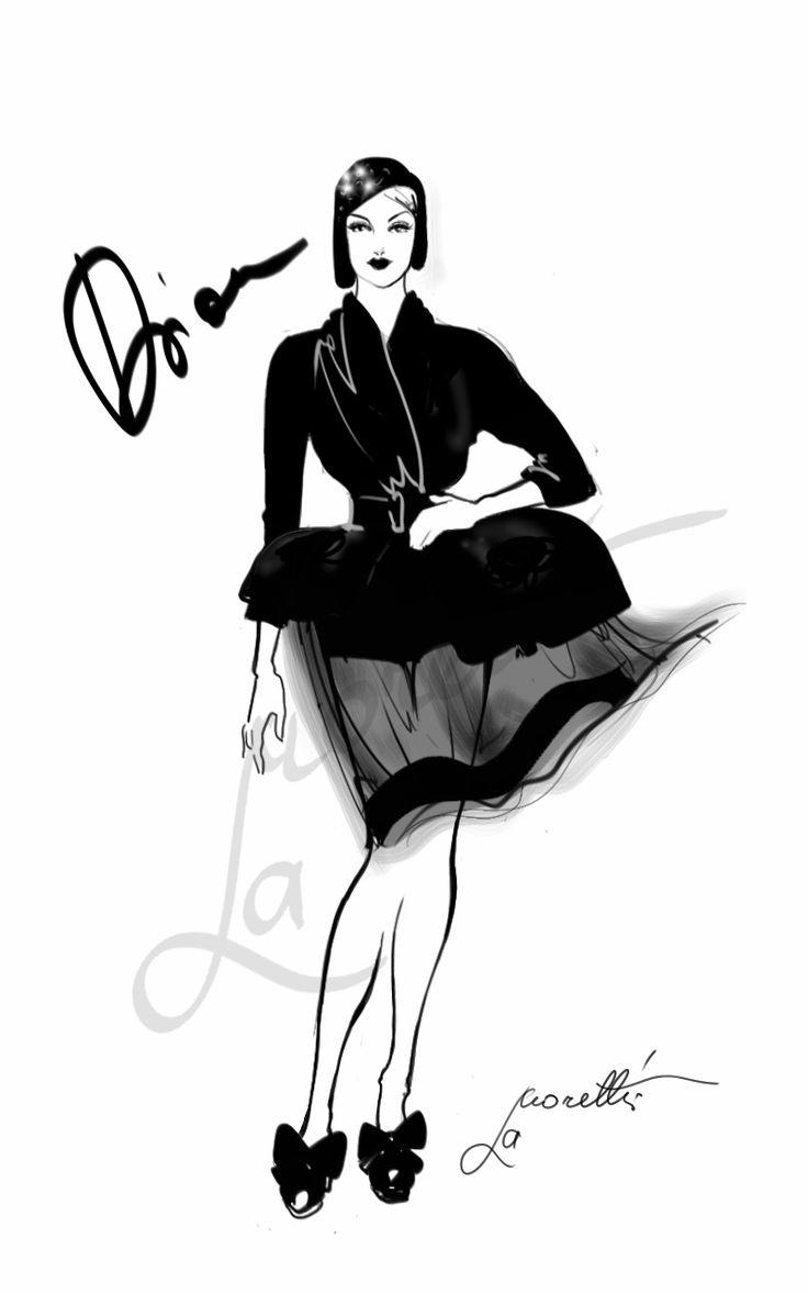"""""""Dior Transparency - Dior Fall 2008"""". Illustration by Nadia La Moretti."""