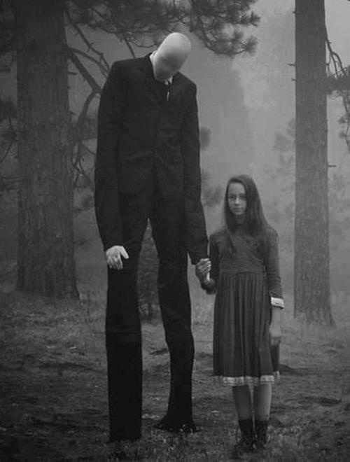 Slender Man. This would be epic for Halloween.