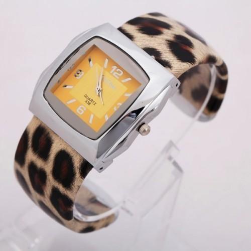 Leopard Pattern Brown Quartz Watch