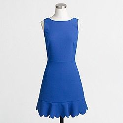 Factory scalloped drop-hem dress