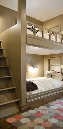 Kids will love having slumber parties in their bunkroom. | 31 Insanely Clever Remodeling Ideas For Your New Home