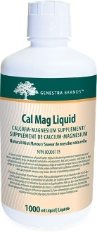 Cal Mag Liquid by Seroyal - Genestra. Cal Mag Liquid provides calcium and magnesium along with natural vitamin D in a pleasant peppermint tasting, suspension formula for optimum palatability. Helps in the development and maintenance of bones and teeth, helps in tissue formation and helps to maintain proper muscle function. On sale at The Health Garden for  $58.95