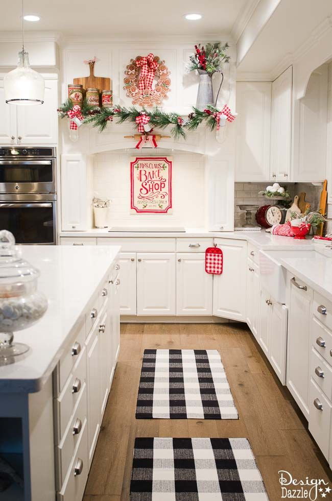 High Quality Christmas Kitchen Tour | Merry U0026 Bright! | Pinterest | Christmas, Christmas  Decorations And Christmas Kitchen