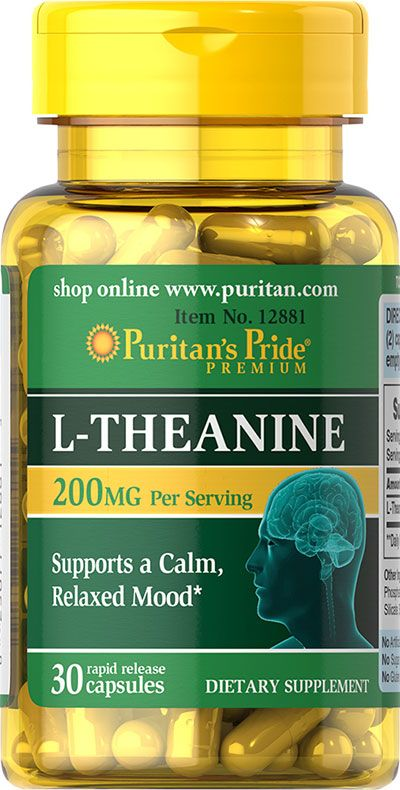 Health & Personal Care: L-Theanine 100 mg