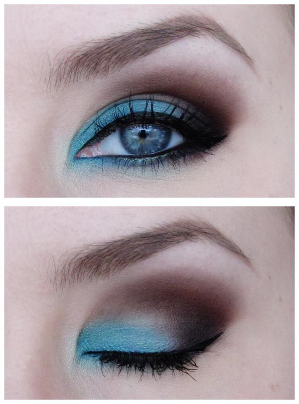 Love itColors Combos, Eye Color, Eye Shadows, Brown Eye, Beautiful, Blue Eye Makeup, Eyemakeup, Smokey Eye, Blue Eyeshadows
