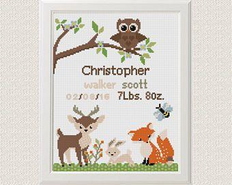 Baby cross stitch nursery personalized Cross Stitch Pattern