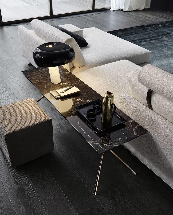 Jean Marie Massaud a réalisé un salon chic et élégant! Architecture de luxe, mobilier, tendances décoSee more inspiring tips at brabbu.com/products
