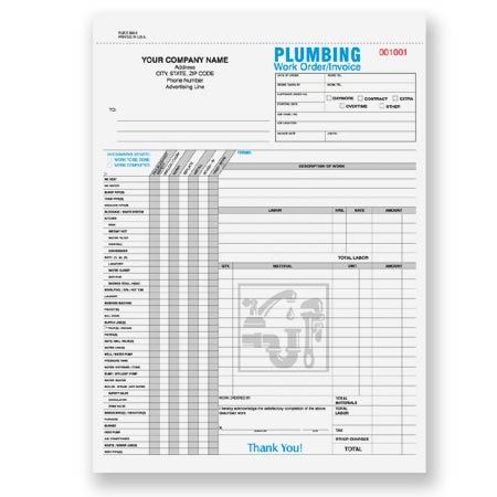 11 best Custom Print for Plumbing Services images on Pinterest - work order form