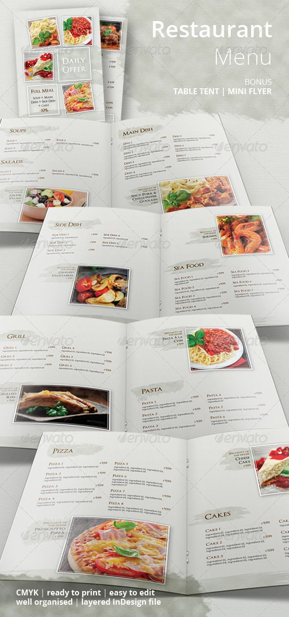 7 best MENU images on Pinterest | Food menu template, Menu templates ...