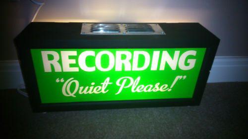 Illuminated Sign Recording Studio Fluorescent Not Neon