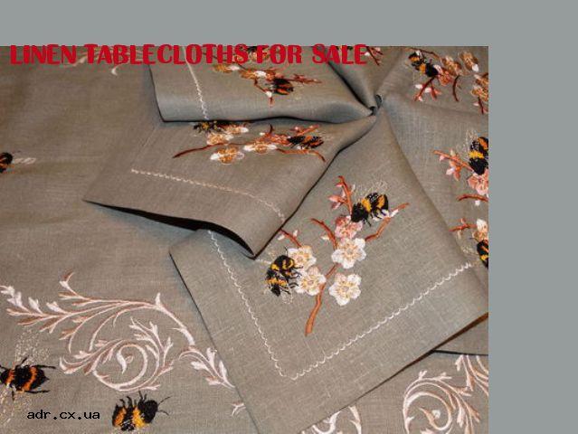 linen tablecloths for sale