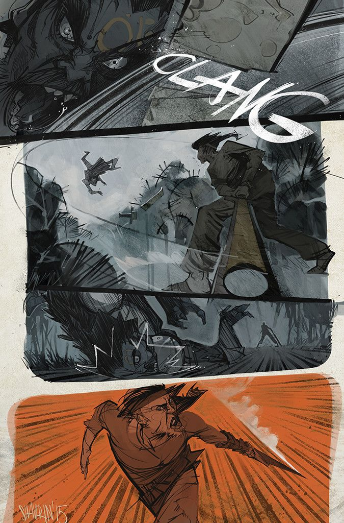 pages of different comics, Ivan Shavrin on ArtStation at https://www.artstation.com/artwork/kGd8y