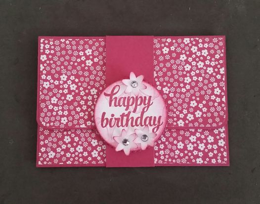 Stampin' Up! Demonstrator stampwithpeg –Craft Fair makes : Gift Card Holder / Money Wallet with instructions. I haven't got any craft fairs booked for a while now, which is a