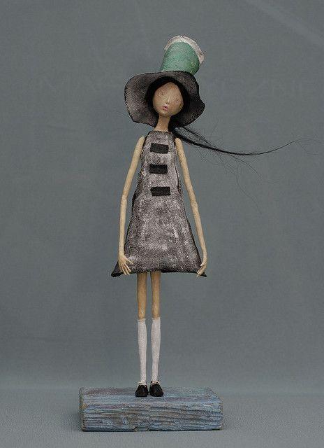 windy2 by artkonik via flickr papel mache pinterest dolls paper mache and clay. Black Bedroom Furniture Sets. Home Design Ideas