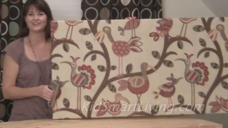 Video:  How to Make Fabric Wall Art Panels Home Decorating DIY Project (using canvas stretchers and staple gun)